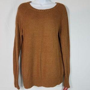 Merona Chunky Sweater Sienna Brown Size L New A106